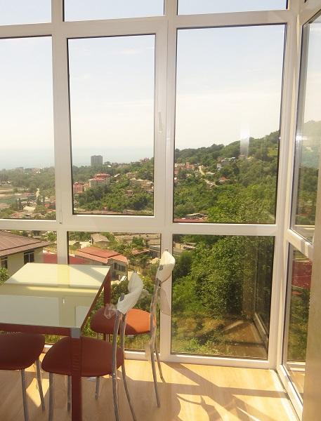 вид с панорамного балкона