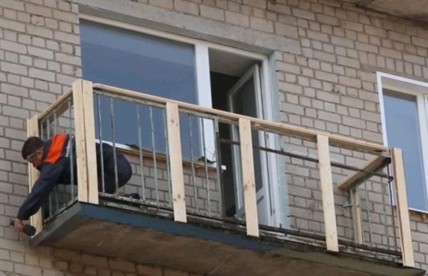 обрешетка под сайдинг на балкон