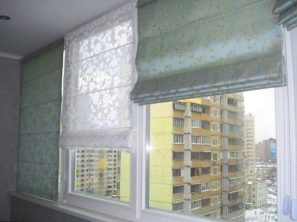 римские шторы на лоджию