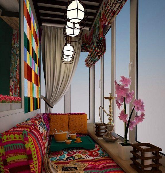 кальянная в восточном стиле на балкон