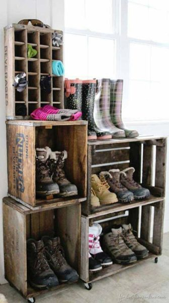 ящики из под выпивки для хранения обуви