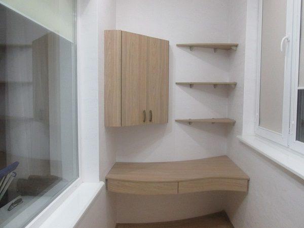 полки угловые на балконе дизайн