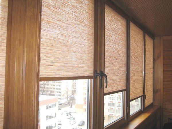 тканевые жалюзи на балкон