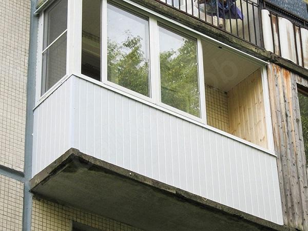 вагонка из пластика для обшивки балкона снаружи