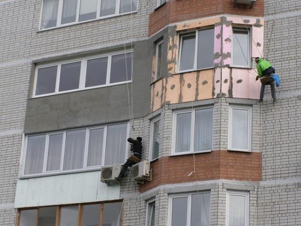 наружное утепление балкона альпинистами