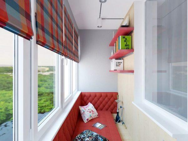 фото: лаундж зона на балконе