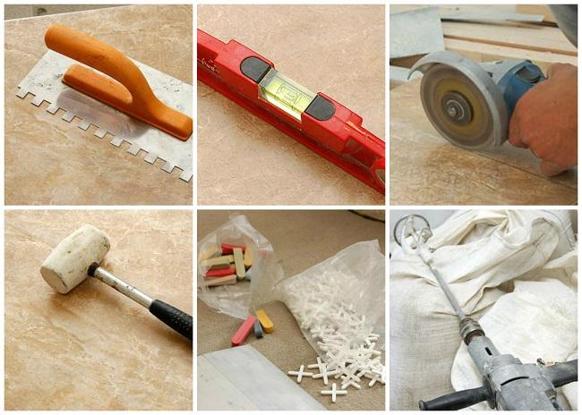 фото: инструменты для укладки плитки