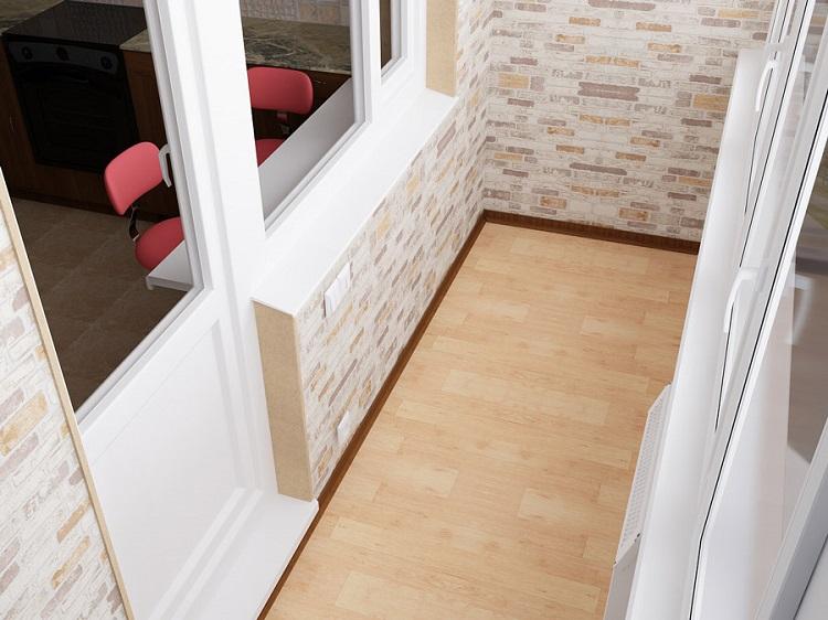 отделка балкона плиткой