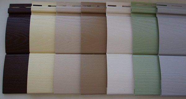 виниловый сайдинг цвета