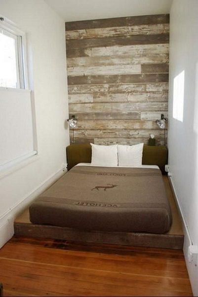 скандинавский стиль спальни на балконе