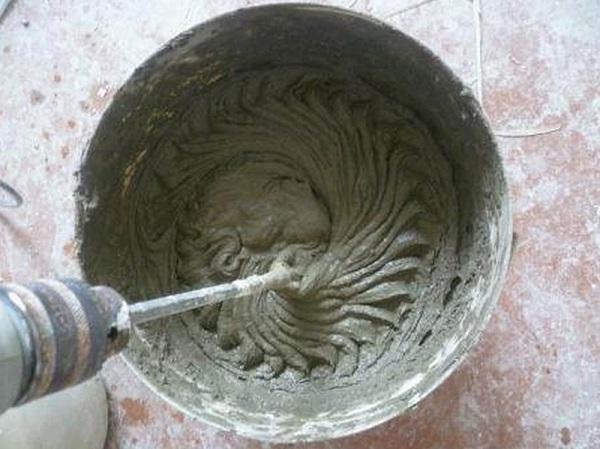 разбавляем плиточный клей