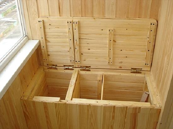 разделение пространства внутри погребка