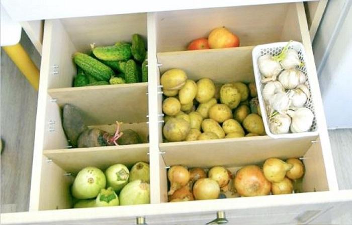 совместное хранение овощей на балконе