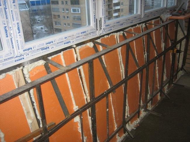 утепление балкона с выносом пеноплексом