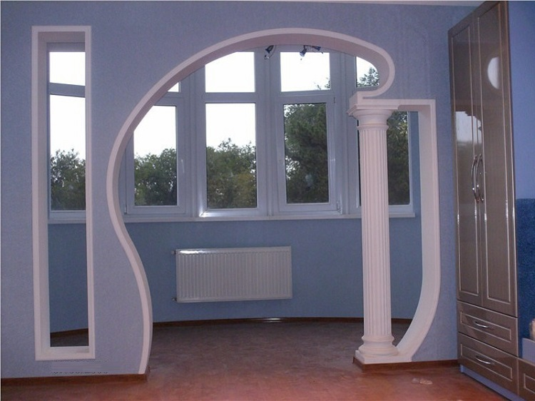 оформление выхода на балкон