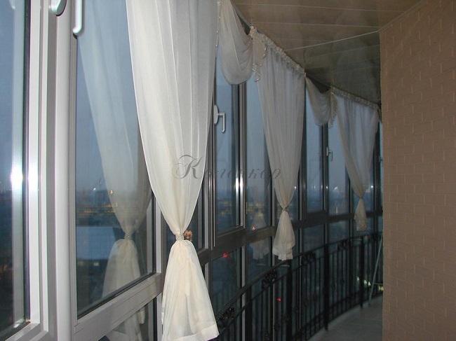тюль на балкон для уюта