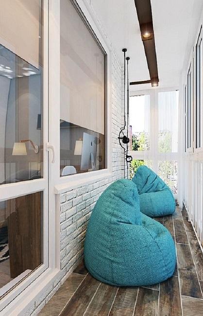 кресло мешок под дизайн балкона