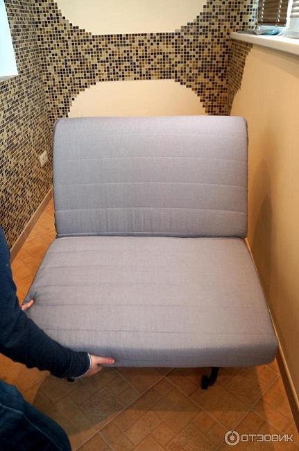 фото: раскладное кресло кровать икеа ликселе