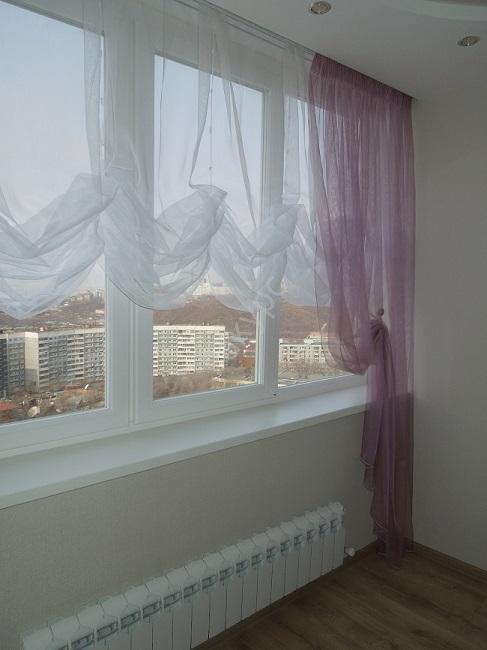 австрийские шторы на балкон