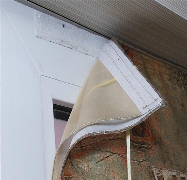 тюлб на липучках на пластиковое окно