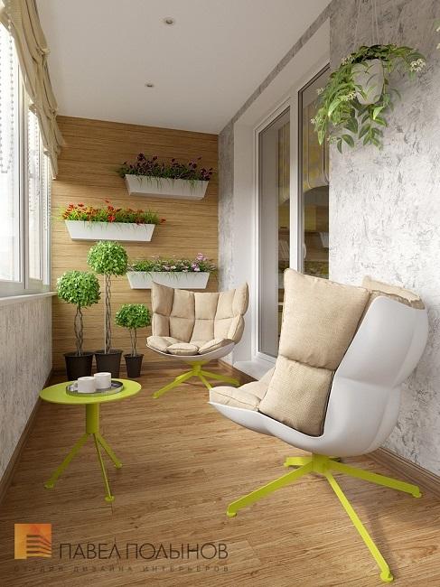 кресла в интерьере балкона