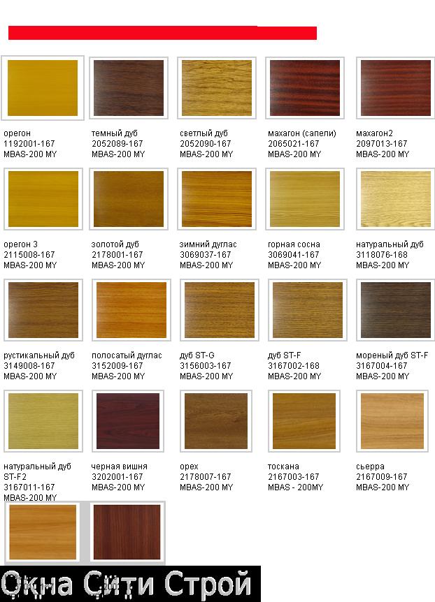 цвета ламинирующей пленки Renolit