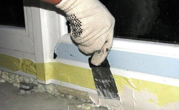 применение стиз б для внутренней обработки швов пластиковых окон