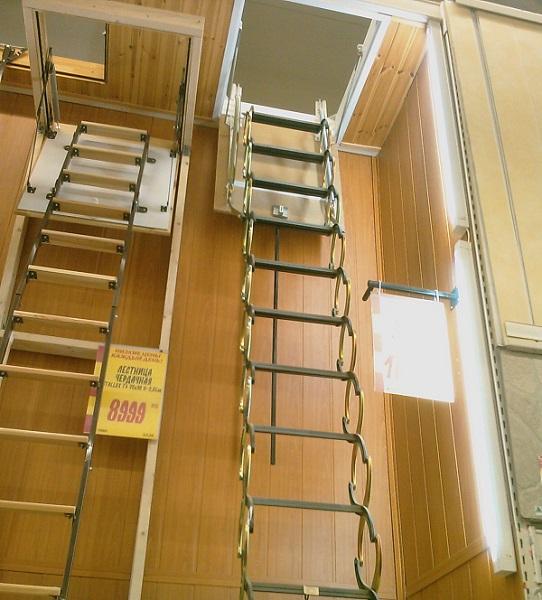 Складная чердачная лестница на балкон