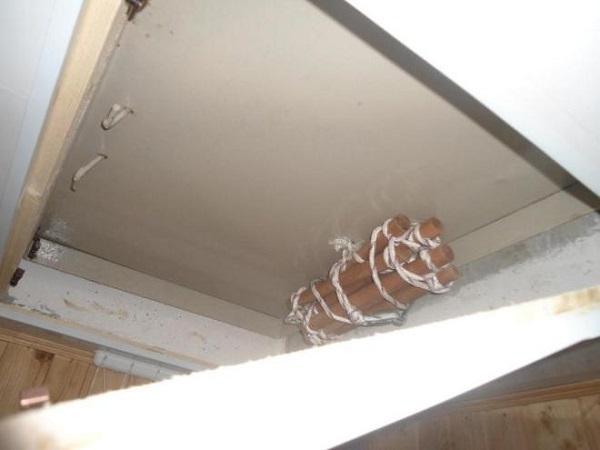 веревочная лестница на балконе