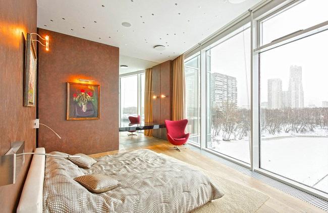 окна в пол в интерьере квартиры