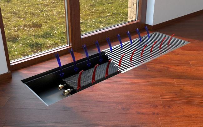 Конвектор для панорамных окон