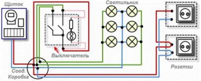 схема электроснабжения балкона