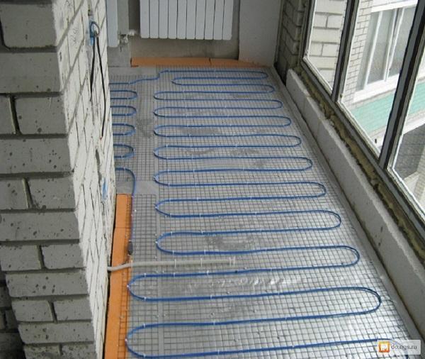 фото: кабельный теплый пол