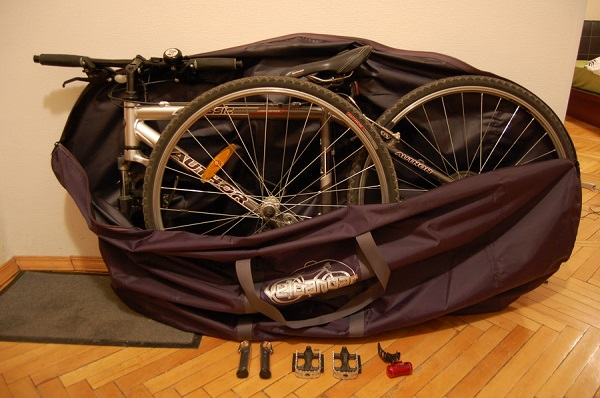 хранение велосипеда в сумке чехле
