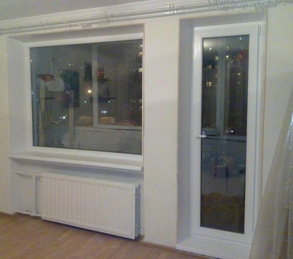 фото: балконная дверь и окно отдельно