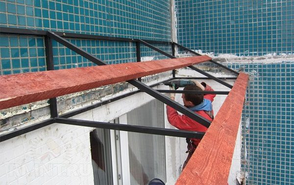 крепление каркаса крыши анкерами
