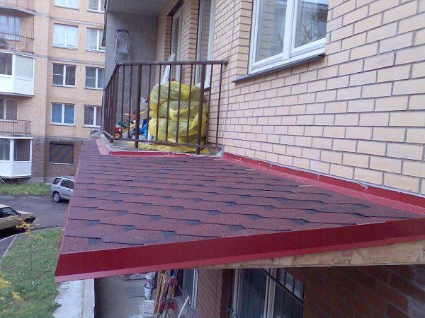 гибкая черепица на крышу балкона