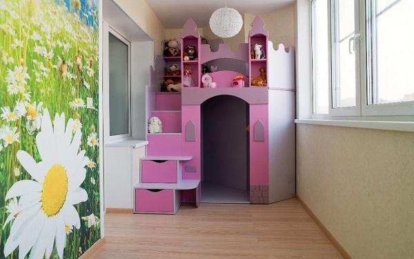 дизайн игровой комнаты на балокне