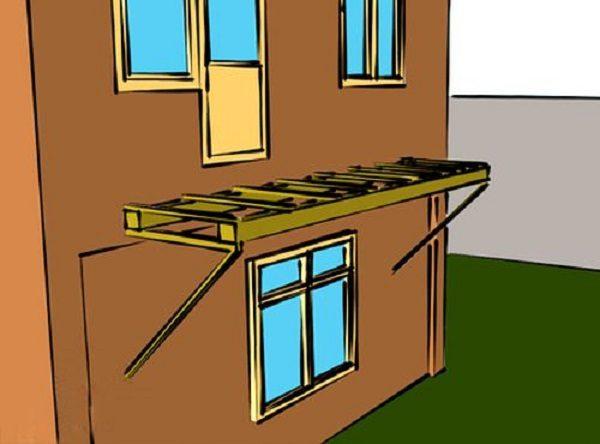 проект консольного балкона к дому