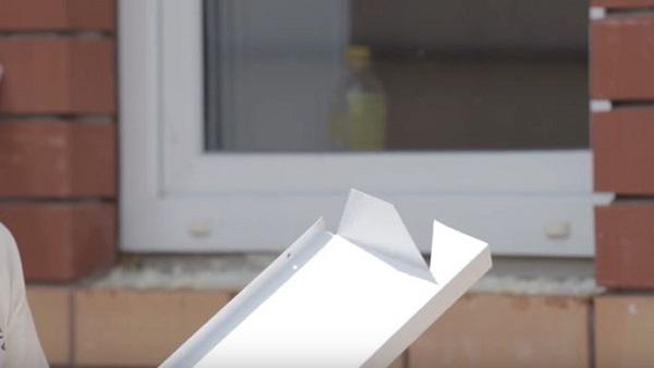 край отлива окна