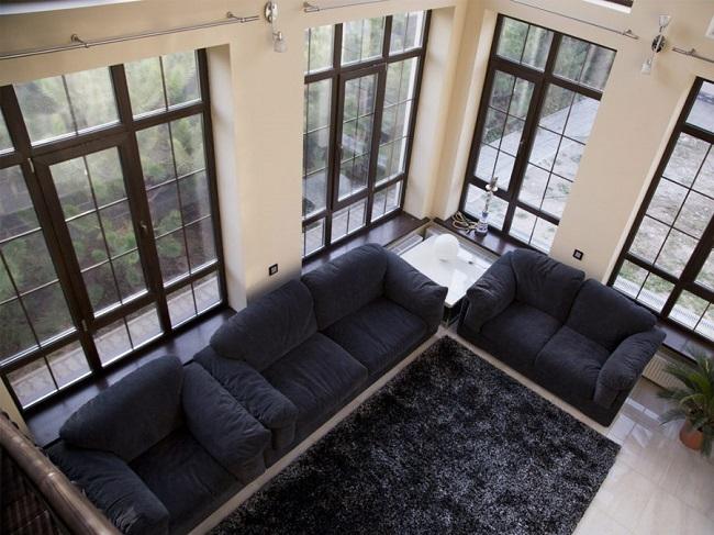 окна в пол в стиле минимал