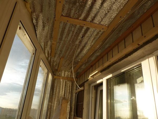 Обрешетка под вагонку на балконе -