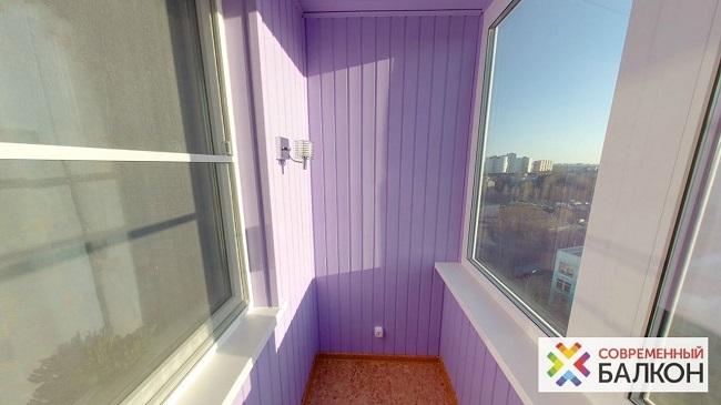 покраска вагонки на балконе
