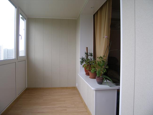 отделка мдф панелями на балконе