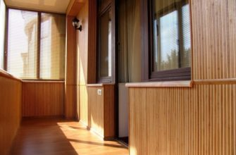 отделка балкона бамбуковыми панелями