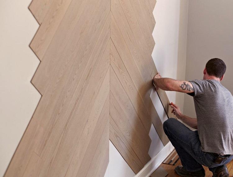 монтаж ламината на стену своими руками