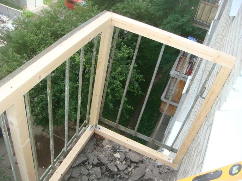 обрешетка под сайдинг на балконе