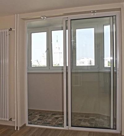 фото: французские двери на балкон