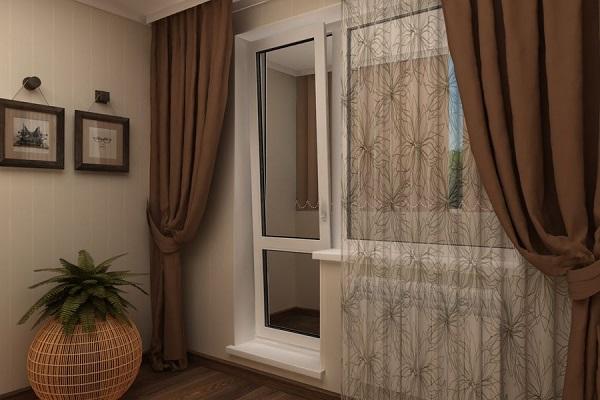 Ассиметричные шторы для кухни, гостиной или спальни