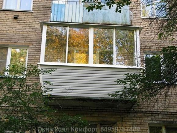 фото: остекление балкона в хрущевке
